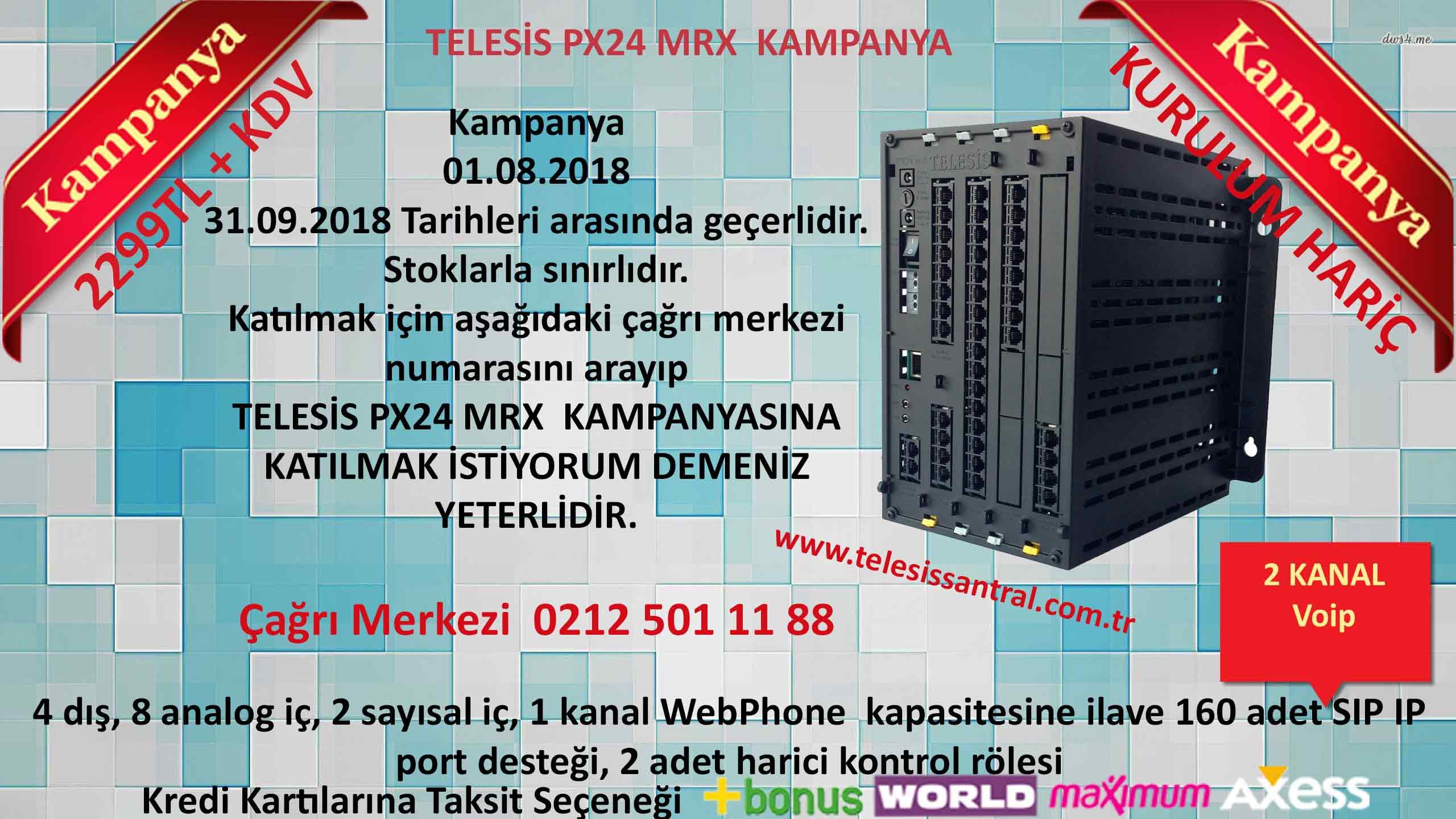 Telesis mr10  mrx kampanya