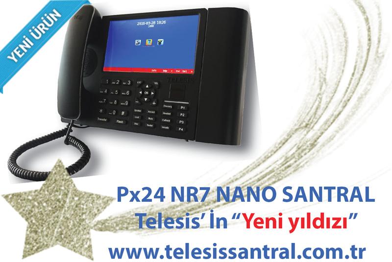 Telesis px24 n r7 ip hibrit santral